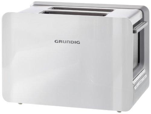 Grundig TA 7280w 2-Schlitz-Toaster (Toast Gourmet, mit LED-Display, 1000 Watt), weiß