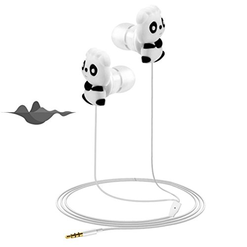 Liu Nian In-Ear-Kopfhörer, HD mit Mikrofon, Bass, 3,5 mm Panda Htc Panda