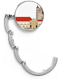 DIYthinker Tabla Portugal Coimbra Nacional Edificio de la señal de Gancho Plegable del Bolso de Colgar
