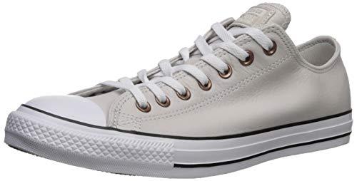 Converse - Scarpe da Ginnastica da Uomo Chuck Taylor all Star, in Pelle, Grigio (Putty, Bianco/Nero.), 39.5 EU