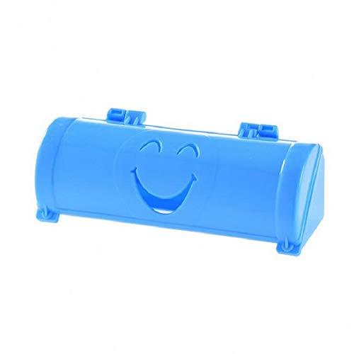 ZJDD Müllsack 10 Farben Startseite Umweltfreundliche Lächeln Gesicht Müllsäcke Aufbewahrungsbox Küche Paste Typ Pp Kunststoffbehälter, Blau