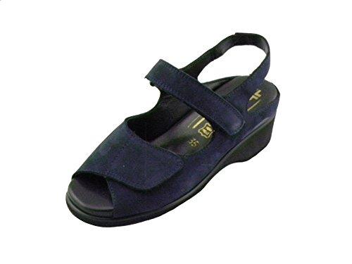 F.li TOMASI Sandalo Comodo Donna per Plantari Vale Blu E0204 40
