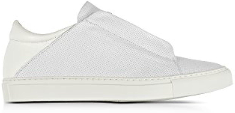 Ylati Hombre YL163 Blanco Cuero Zapatillas  -