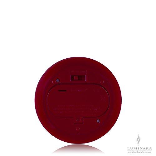 Luminara velas LED conjunto de 3 en burdeos ˜ 10 cm lisa. Tamaño: en ˜ 10 cm x altura 23, 18 y 14 cm, color: burdeos, Superficie: lisa