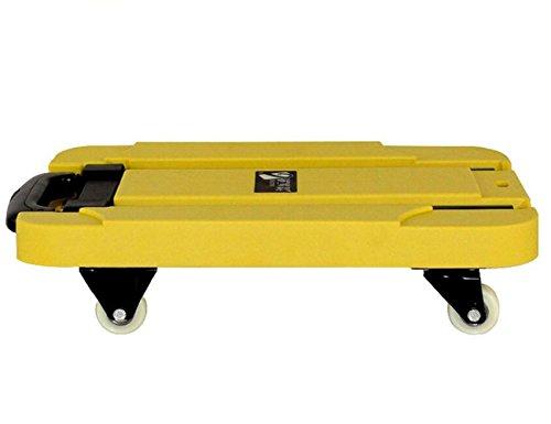 SSQCXO Casa Auto Portatile Mini quattro turni piega Canne Spostare Il vassoio Mano Pull carrello / 200kg Loaded