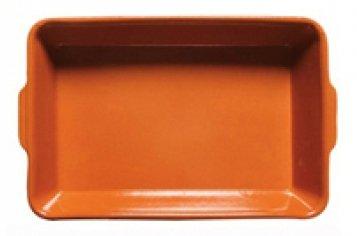 Alar Plat 2619–Plat à gratin en céramique rectangulaire 26x 19cm, Terracotta Couleurs, pour nourriture saine et une cuisine