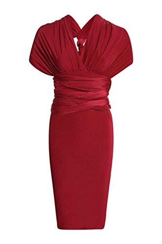 Prune Femmes Heidi Multi Way Strappy Slinky Bodycon Robe Prune