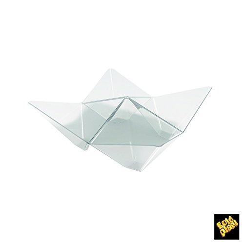 Finger Food unidose Coupelle Origami PS 103 x 103 mm cfz 25pz transparent