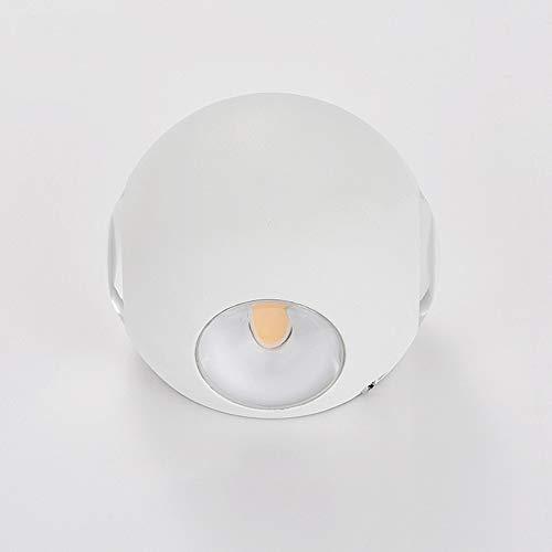 Unbekannt 2W * 4 Cross Planet Außenwandleuchte, IP65 Aluminium Glas im Freien Landschaftsbeleuchtung High-End-Club LED-Licht-White -