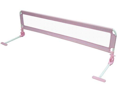 150cm Bettschutzgitter Bettgitter für Kinder robust&sicher Rosa