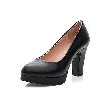 RTRY Frauen Heels Formelle Schuhe Aus Echtem Leder Frühling Herbst Büro & Amp; Karriere Formelle Schuhe Ferse Schwarz 2-In-2 3/4 In Schwarz Us 8 / Eu 39/Uk6/Cn