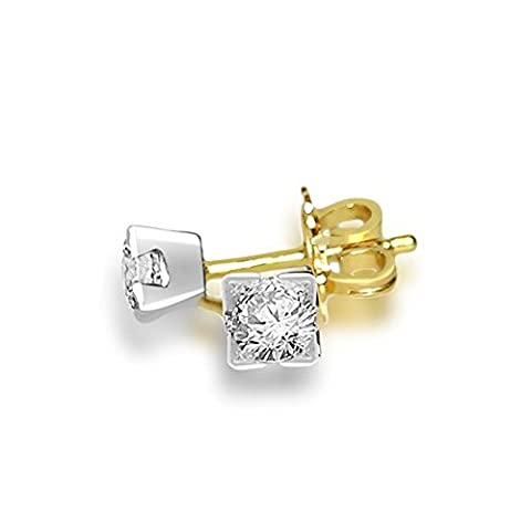 0.30ct F/VS1 Diamond Stud Earrings for Women with Round Brilliant Diamonds in 18ct Yellow Gold