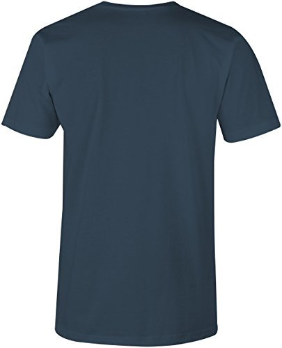 Könnte würde hätte sollte machen ★ V-Neck T-Shirt Männer-Herren ★ hochwertig bedruckt mit lustigem Spruch ★ Die perfekte Geschenk-Idee für Geburtstag, Vatertag oder zum Jubiläum (03) dunkelblau