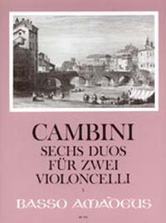 6 DUETTE OP 49 - arrangiert für zwei Violoncelli [Noten / Sheetmusic] Komponist: CAMBINI GIOVANNI GIUSEPPE