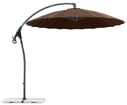 Schneider Sonnenschirm Lotus, mocca, 270 cm rund, Gestell Aluminium/Stahl, Bespannung Polyester,...