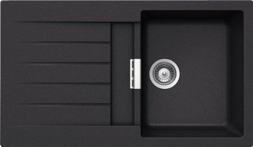 Preisvergleich Produktbild Schock Spüle PRID100AGNE Primus D-100 Auflage, farbe nero
