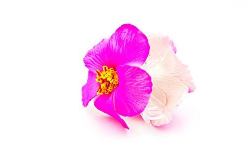 Pinza-cangrejo-a-Cabello-Flor-Hibiscus--Tejido-plstico--Accesorio-para-peinado