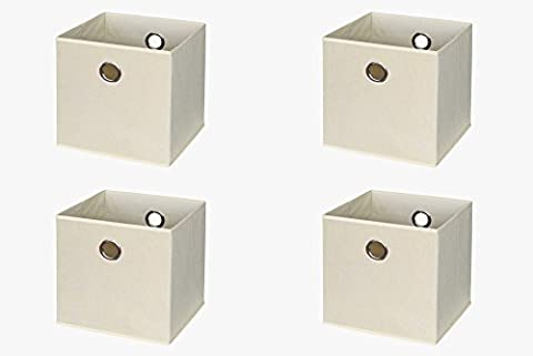 Ikea Kallax / Expedit Regal Box (4er Set) in beige