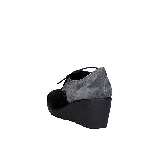 Cinzia Soft CAMP.23 Mocassin Femme Noir/Gris