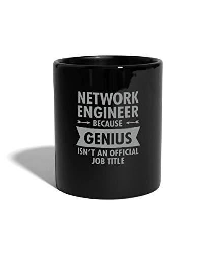 Spreadshirt Geek Network Engineer Genius Jobbezeichnung Tasse einfarbig, Schwarz (Computer-programmierung-becher)