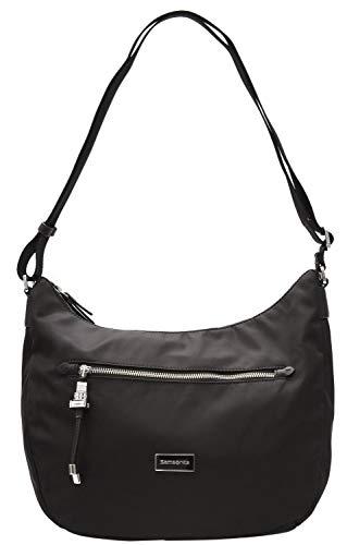 Samsonite Karissa - Schultertasche Medium, 36 cm, schwarz (Black) (Black Medium Handtaschen Hobo)