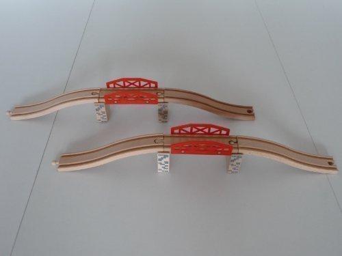 point-kids Holzeisenbahn 2x Brücke Holz Set 10 Teile