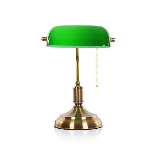 CLOTHES UK- Tischlampe Grün Abdeckung Bank Tischlampe Retro Schlafsaal Lesen Studie Schreibtischlampe Table Lamp (Steckdosen-abdeckungen Rustikale)