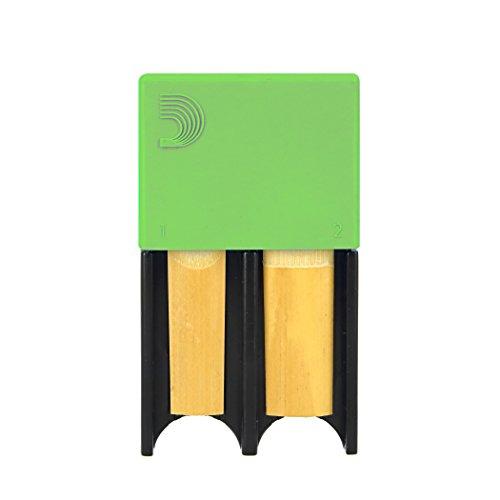 D'Addario Reed Guard für 4 Klarinetten-/Saxophonblätter, Blister mit 1 Stück, grün