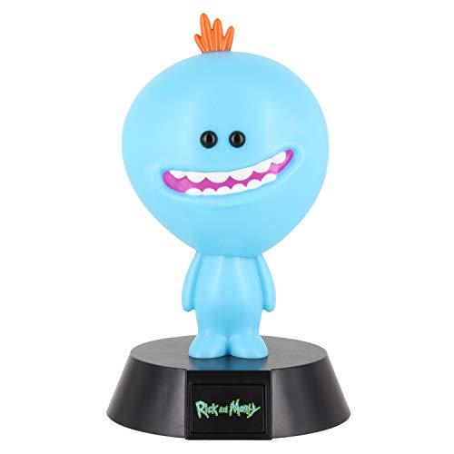 Paladone Mr Meeseeks Icon 3D LED Rick & Morty Sammlerstück Gremlins Ideale Nacht Kinderzimmer Büro & Home Pop Culture Beleuchtungsartikel 10 cm