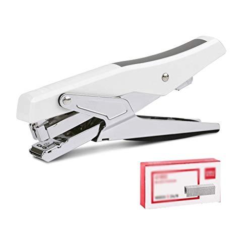 Metallzangen Hefter Student Stationery Office Manuelle Bindemaschine Hand-Hefter Papierbindezubehör (Color : White, Größe : 175 * 75mm)
