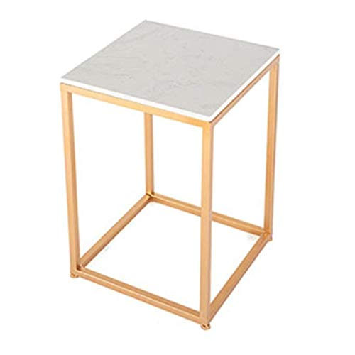 CFJJOAT Beistelltisch Quadratischer Marmor-Beistelltisch, der Sofa-Beistelltisch, der Nachttisch oder Jede Ecke des Wohnzimmers (40x40x58cm)