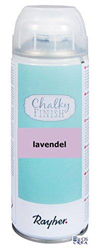 RAYHER Chalky Finish Spray 400ml, Kreidefarbe für eine Fläche von circa 1,5 - 2m², Lavendel (Vintage Spraydose)