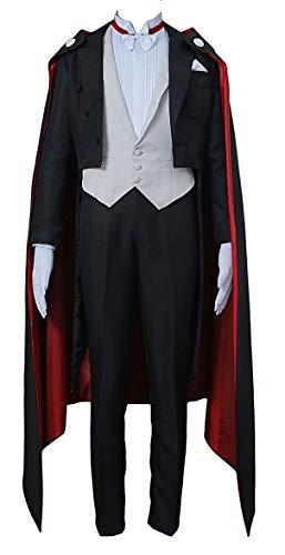 Chong Seng CHIUS Cosplay Costume Outfit for Tuxedo Mask Chiba Mamoru Version 1 (Moon Halloween-outfit Sailor)