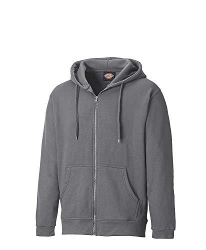 Dickies Mens Redwood Polycotton Full Zip Lined Hooded Sweatshirt Zip Front Hooded Sweatshirt Shirt