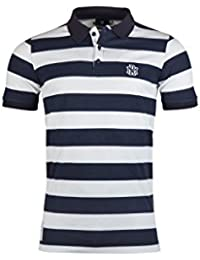 Rugby Division Etoile Stripe - Polo de Rugby Hors Terrain - Blanc/Marine