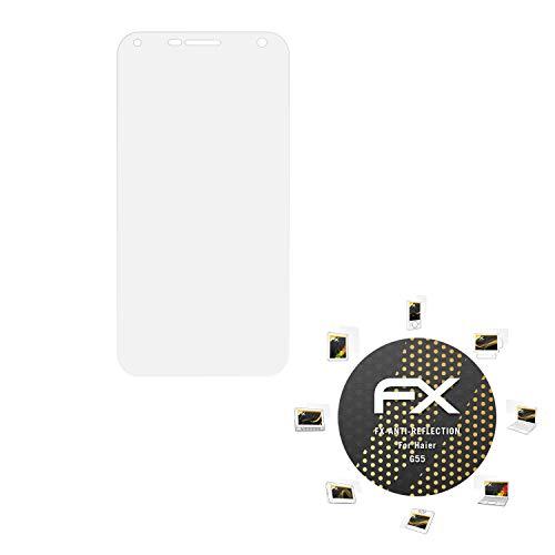 atFolix Panzerfolie kompatibel mit Haier G55 Schutzfolie, entspiegelnde & stoßdämpfende FX Folie (3X)