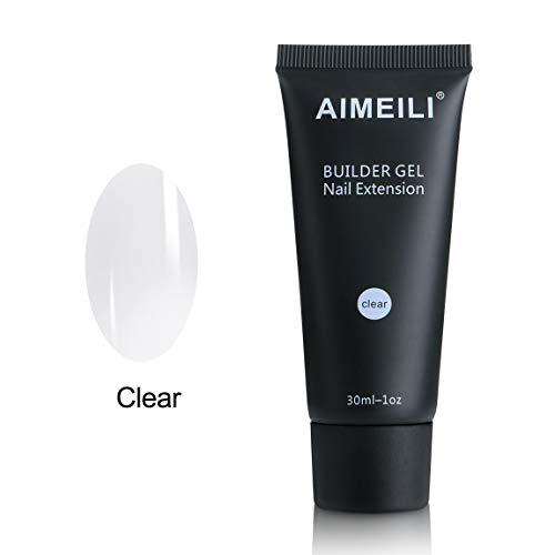 AIMEILI Gel Nagel Verlängerung Klar 30ml Soak Off UV LED Nails Aufbaugel Nail Extension Builder Gel (Builder Uv Gel)