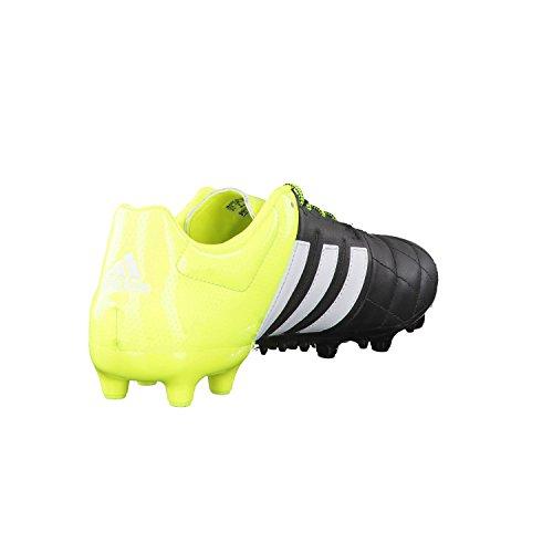 adidas Herren Ace 15.3 Fg/Ag Leather Fußballschuhe schwarz - gelb - weiß