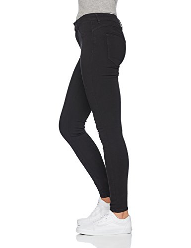 Pieces Pcshape-Up Mw Jeggings Black/Noos, Jean Skinny Femme Noir (Black Black)
