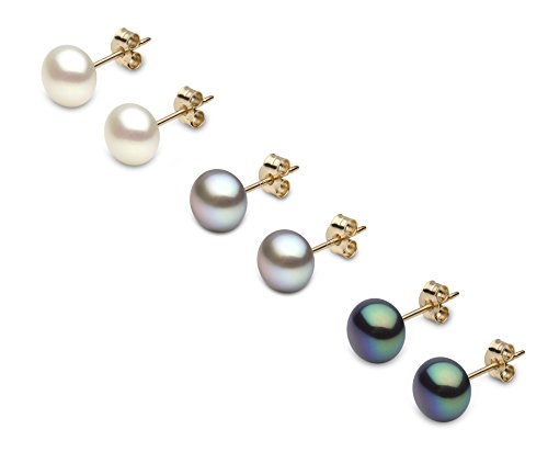 Kimura Pearls E11980SET3-WGB