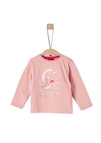 s.Oliver Baby-Mädchen 65.908.31.8816 Langarmshirt, Rosa (Dusty Pink 4257), (Herstellergröße: 86)