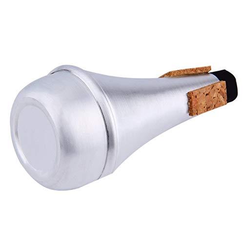 VCB Aluminium gerade Trompeten Dämpfer für Jazz Instrument Practice Anfänger - Silber