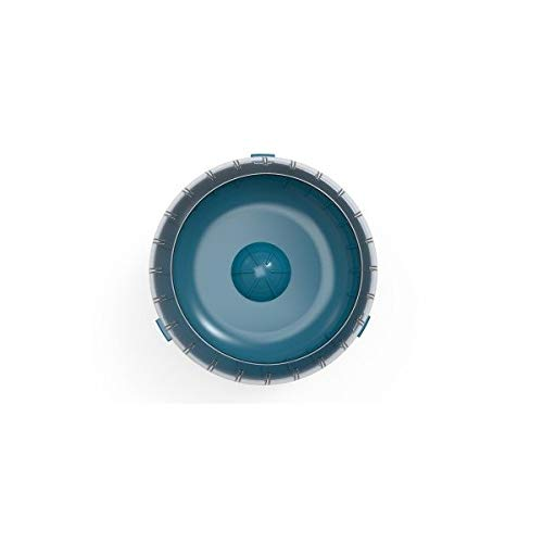 Ruota per Esercizi Silenziosa Rody3 Colore Blu Piccoli Animali roditori Criceti, Gerbili, Conigli - Adatta a Tutte Le Gabbie