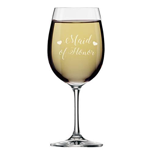 My Personal Memories Weinglas mit Stiel, für Brautpartys Maid of Honor 14oz Hearts Style
