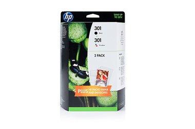 HP - Hewlett Packard Envy 4502 e-All-in-One (301 / J3M81AE) - original - 2 x Druckkopf Multipack (schwarz, cyan, magenta, gelb) (Hp Envy 4502 All In One Drucker)