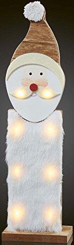 Hellum LED-Weihnachtsmann 522181 aus Holz m.Kunstfell Festbeleuchtung 4001233522181