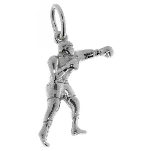 Derby Anhänger Boxer Box-Sport massiv echt Silber Sterling-Silber 925 - 23857 (Boxen Boxer)