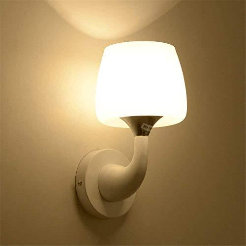 CWJ Wandleuchte-Einfache Glas LED Warm und Kinder Leben im Schlafzimmer der Kopf des Bett Zimmer im Dolphin Hotel Villa Zimmer Gang Tür Dekoration Licht