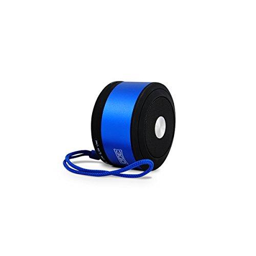 3GO Tempo 3W Rohr Schwarz, Blau-Tragbare Lautsprecher (verkabelt u. Kabellos, Batterie/Akku, Bluetooth/3.5mm, Mobile Phone/Smartphone, Tube, schwarz, blau)