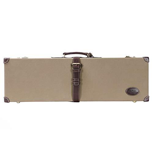 Tourbon Jagd Leinwand & Leder Luxus Heavy Duty Shotgun Box gun Case mit Codeschloss - Grün